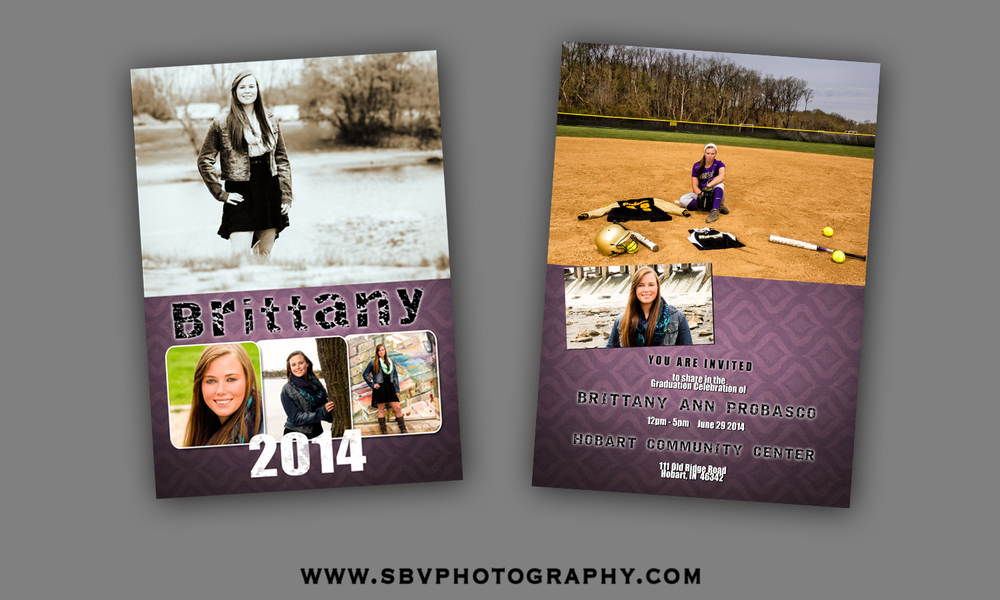 Senior Picture Open House invitation front and back.