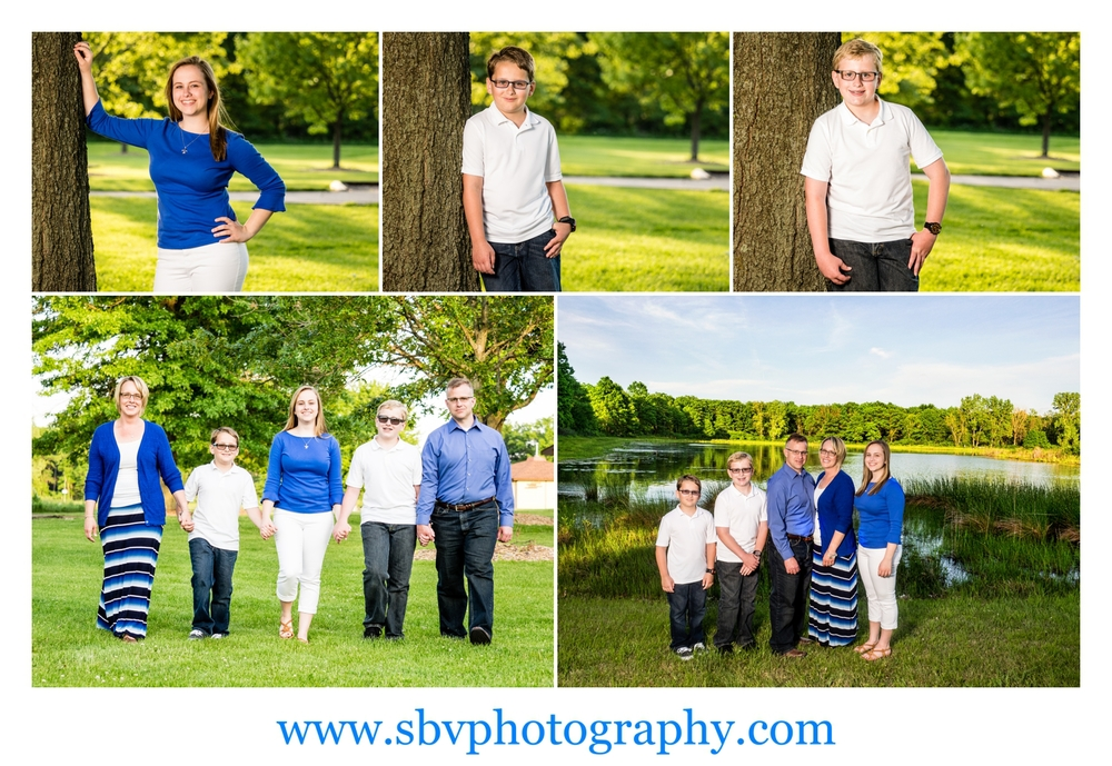 The Lewis family photos in Griffith, Indiana.
