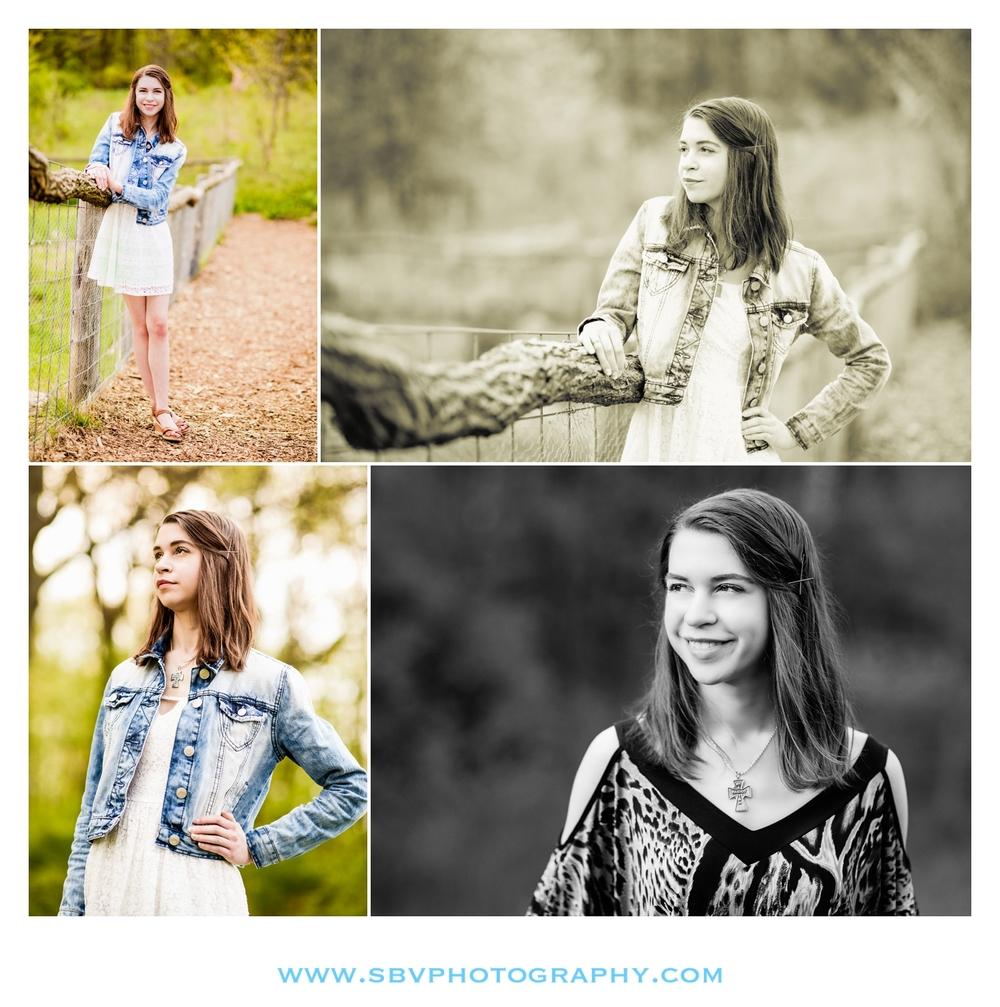 Senior photos at Taltree Arboretum.