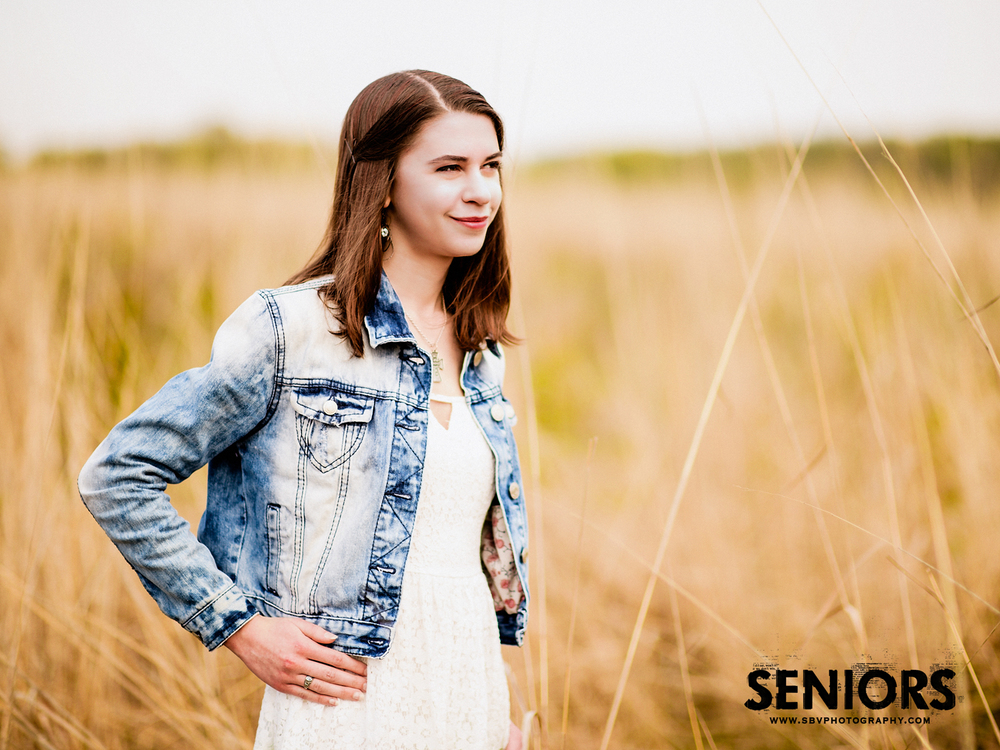 Senior pictures in the wheat fields of Indiana.