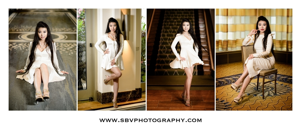 A portrait session inside The Peninsula in Chicago.
