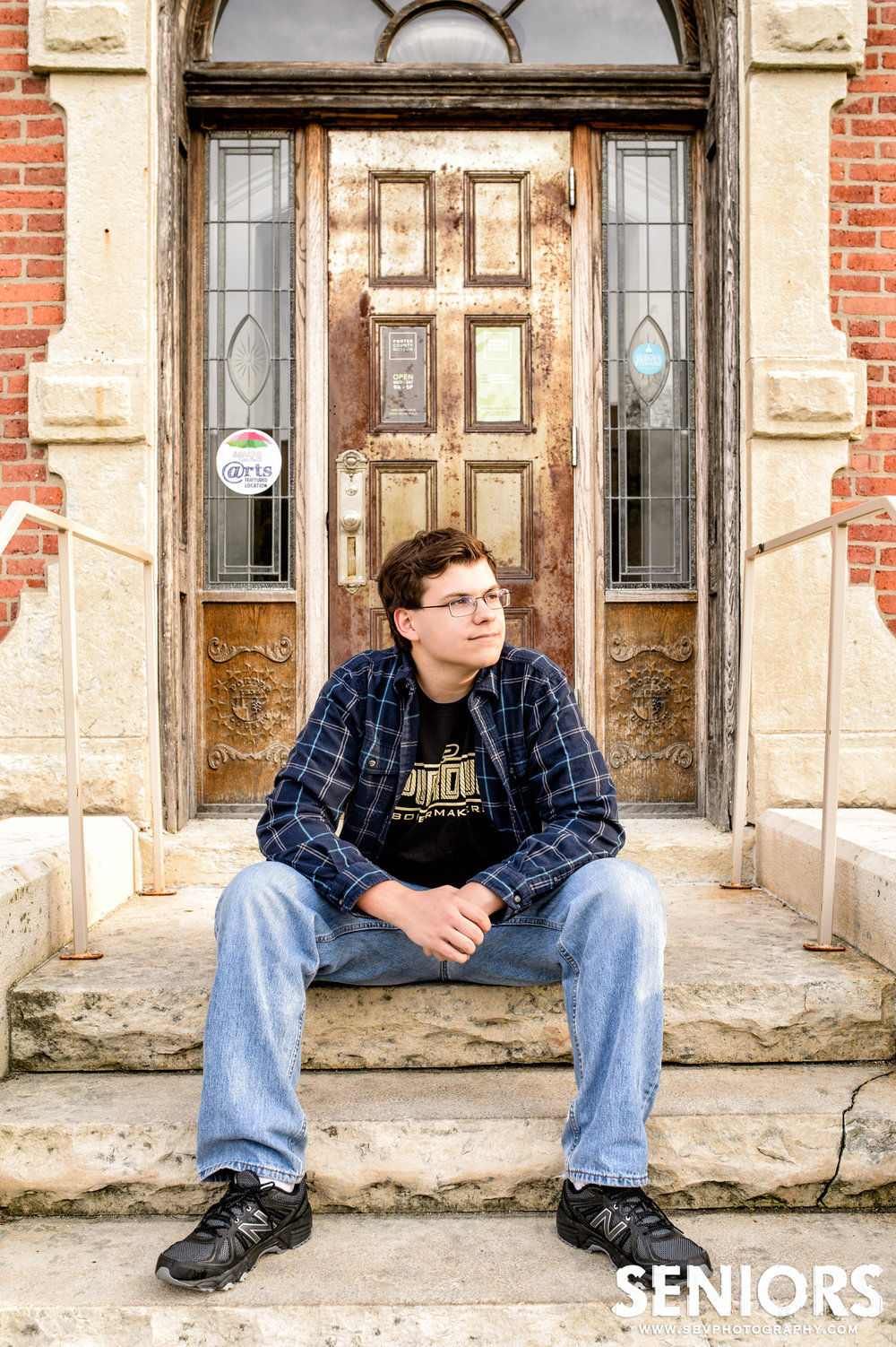 High School Senior portrait at The Porter County Art Museum.