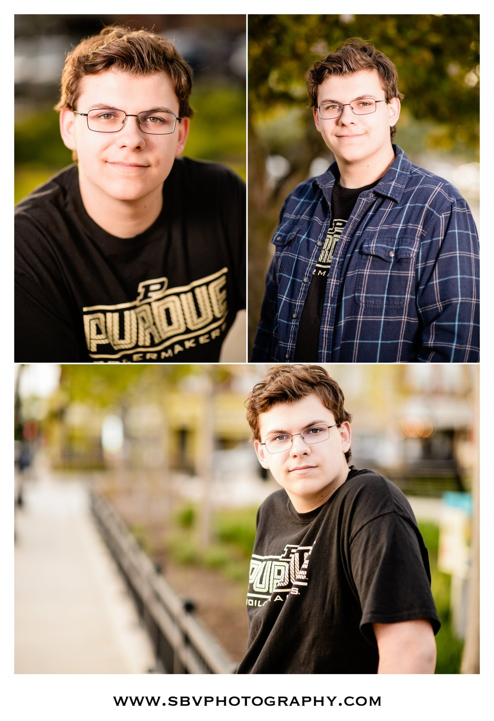 Senior portraits in downtown Valparaiso.