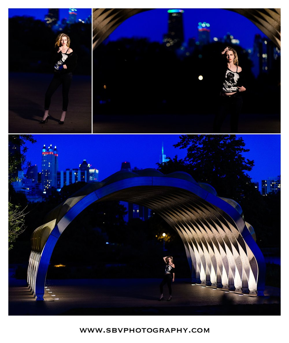 Portraits at night in the city of Chicago.