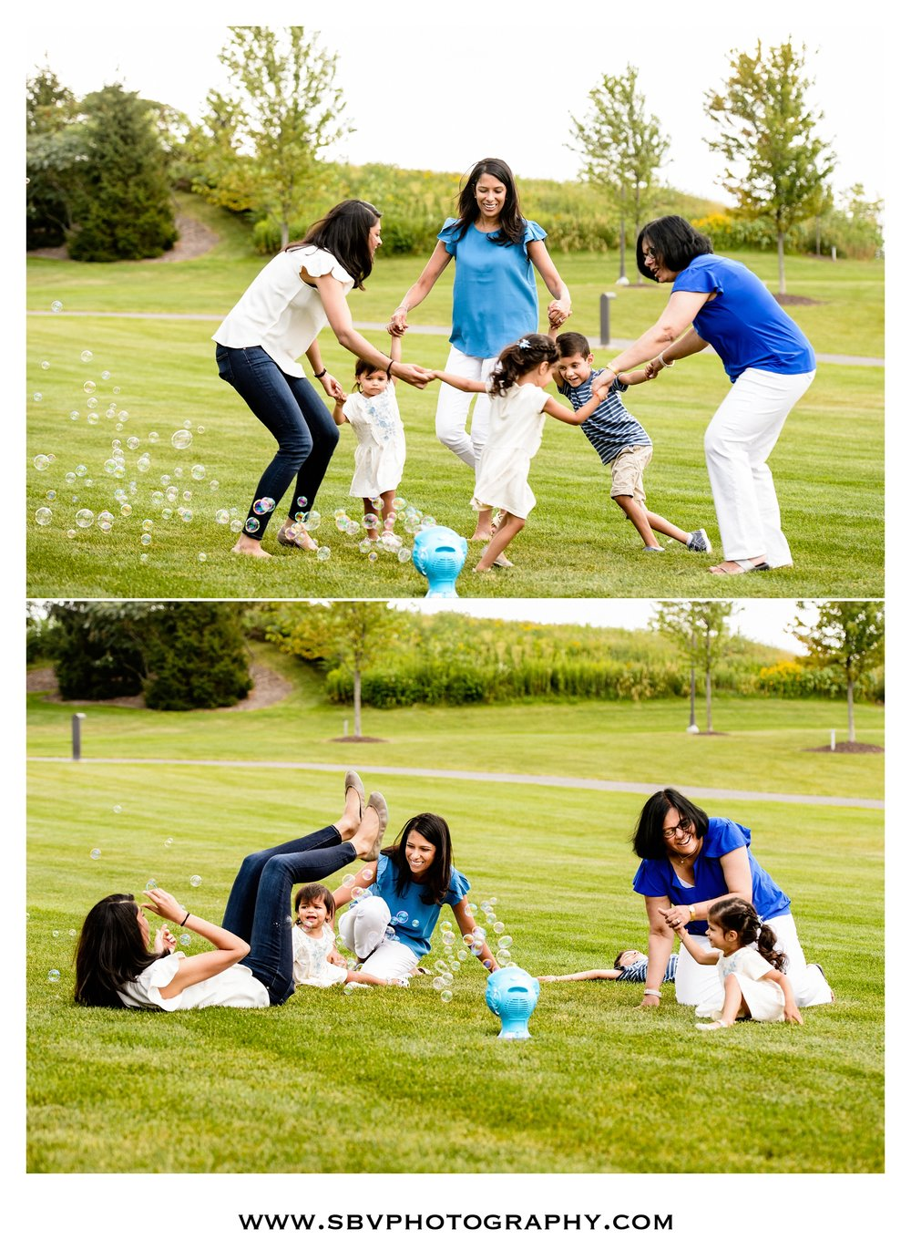 Family lifestyle pictures at Centennial Park.