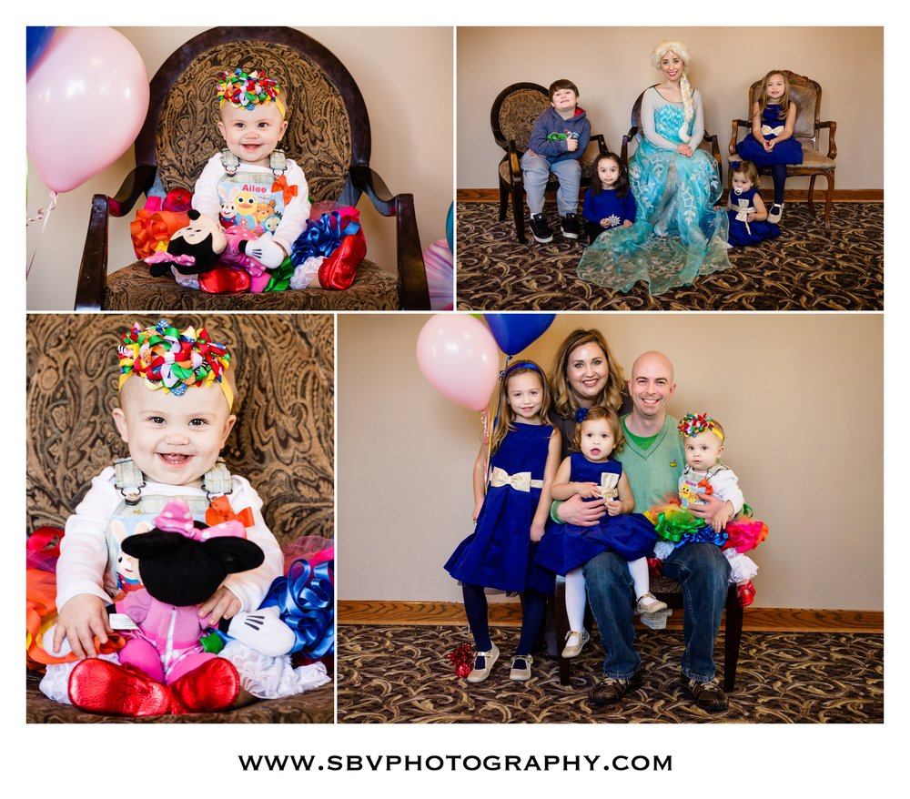 Family party portraits at Andorra Banquet Hall in Schererville, Indiana.