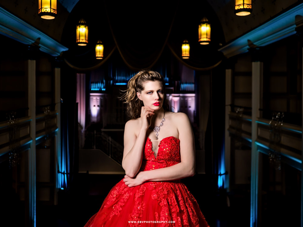 Scarlet Obsession Gown at Fashion Inspired Shoot