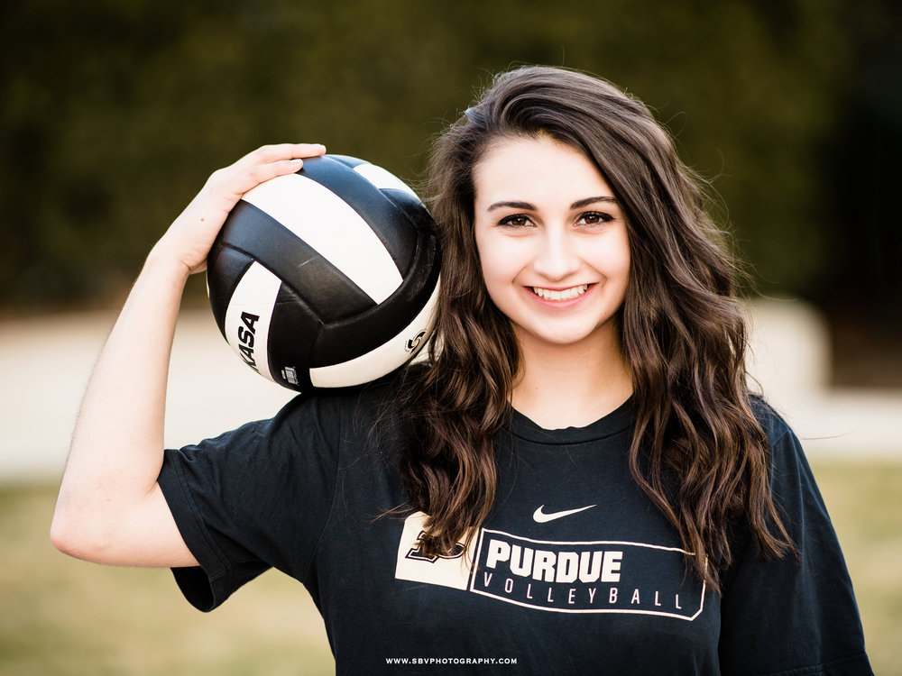 Volleyball themed senior portrait.