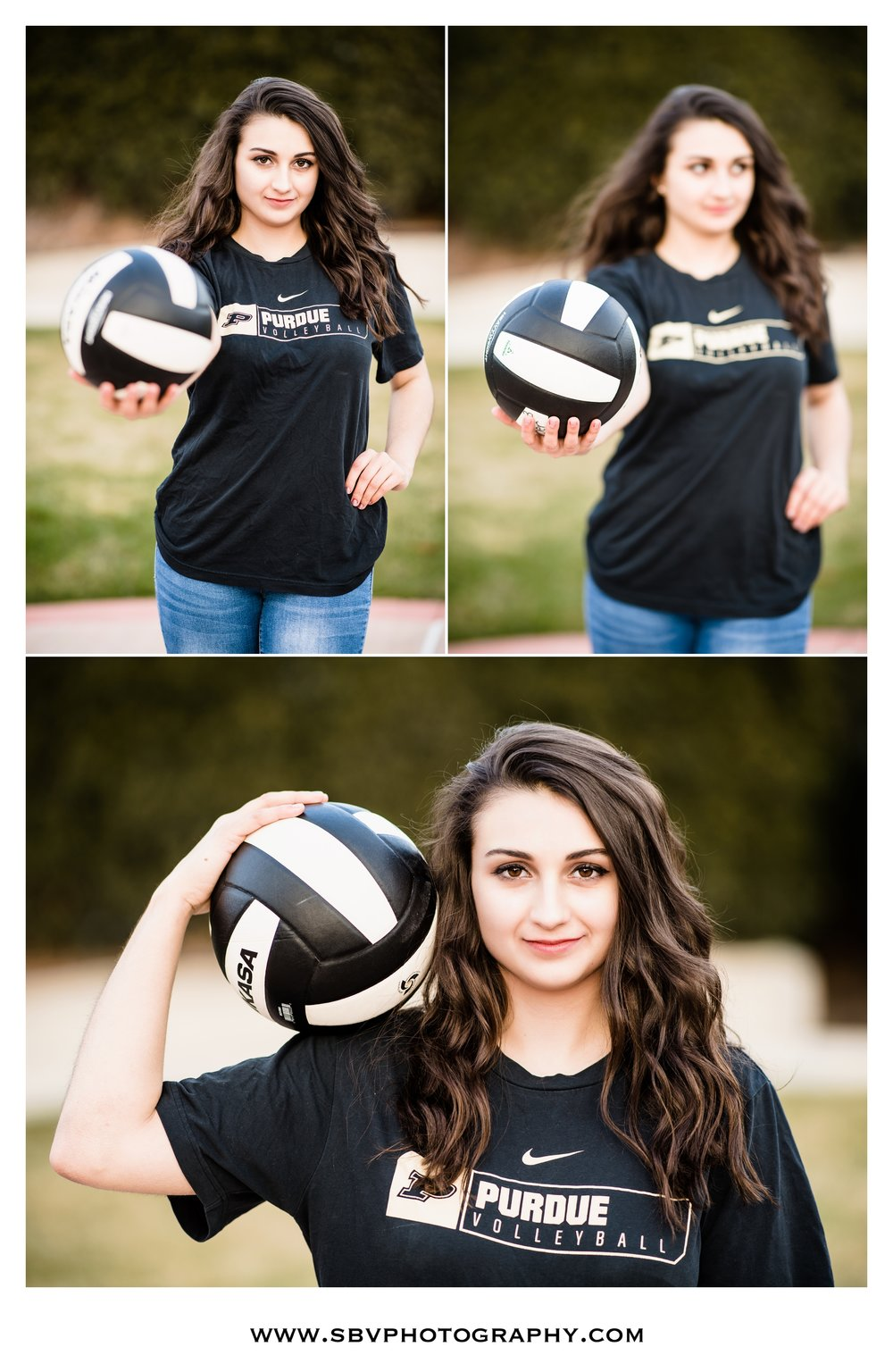Senior portraits featuring Purdue volleyball.