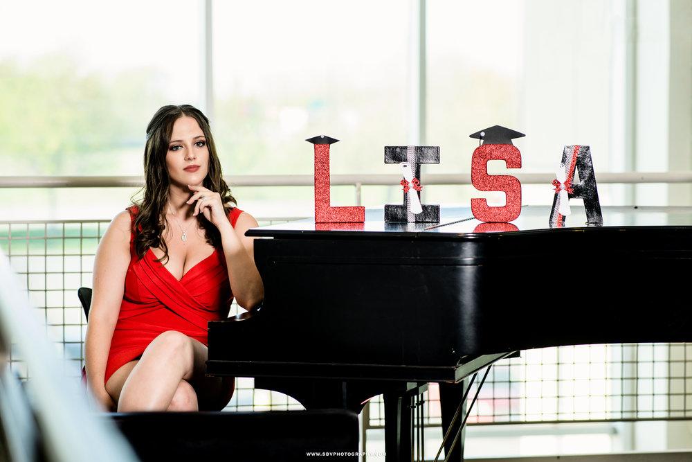 Lisa -IU graduate, at the piano.