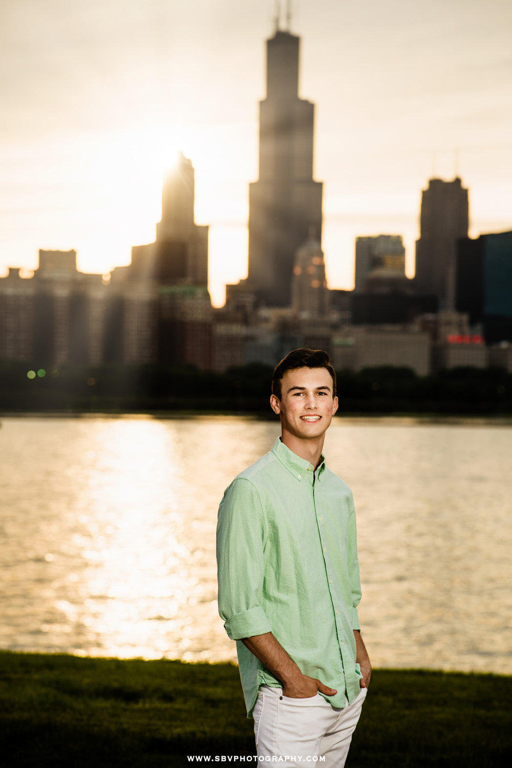 Chicago senior picture sunset photo.