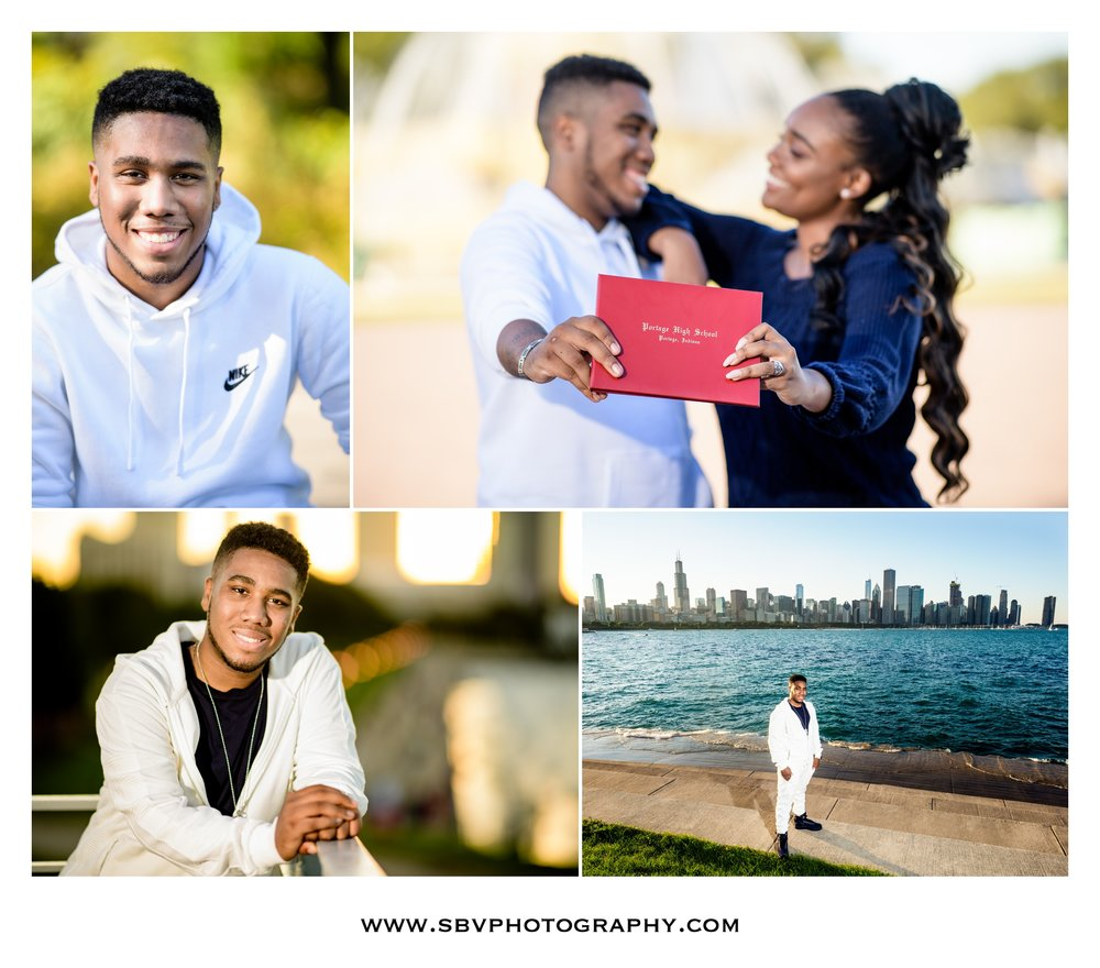 Senior portraits in the Windy City.