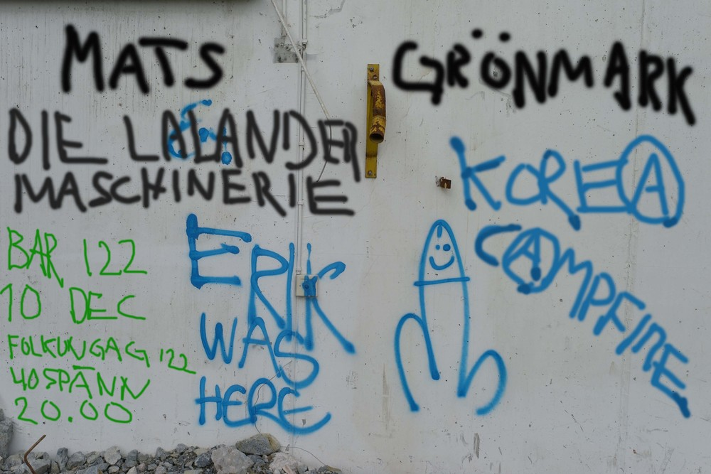 I just added a little to t   his old school graffiti (Erik and the cock)