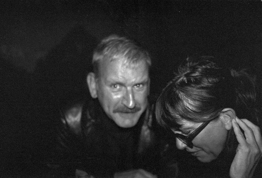Lars Brusell, guitarist, star producer and girl magnet here with singer songwriter Anna Nobel