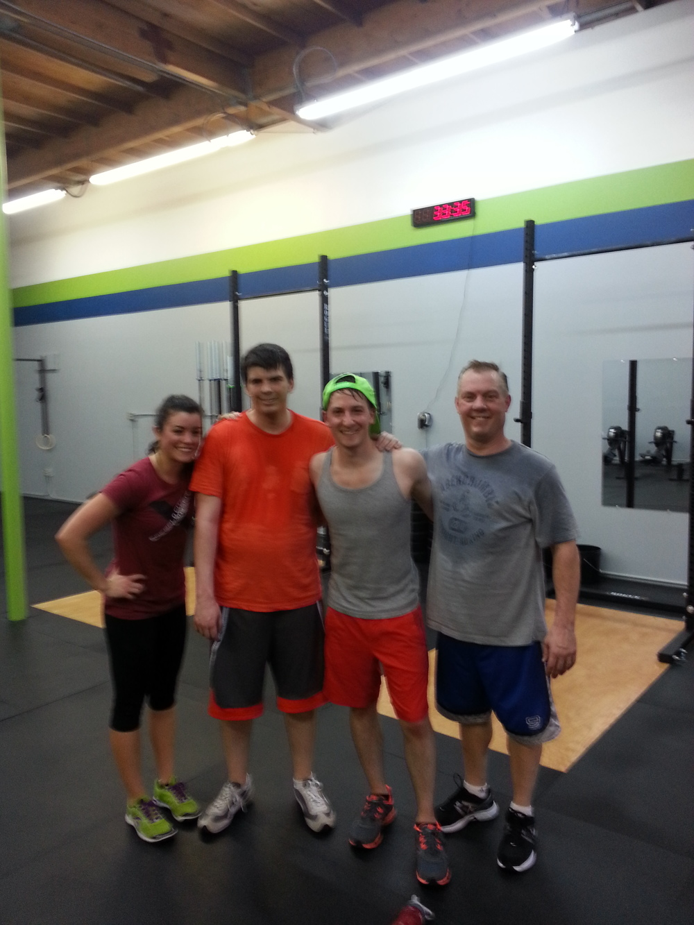 6:00pm class fresh off their sweat-fest, great job!