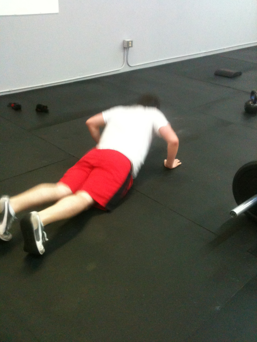 Phil doing his Push-Ups during the WOD
