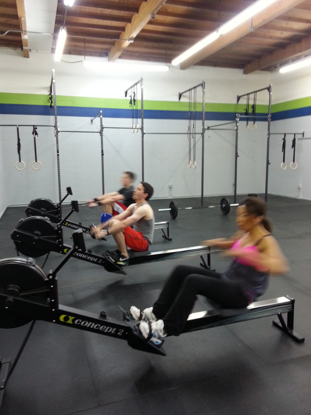 Our 5:00 class pushing hard on that row.