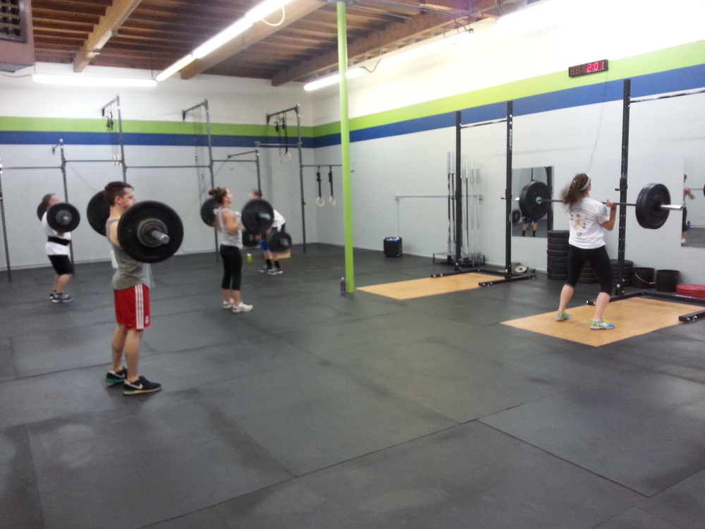 5:00 class cleaning their weights