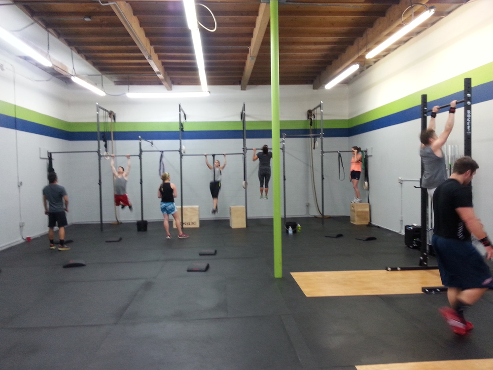8:30 AM class starting out with the 150 pull-ups!