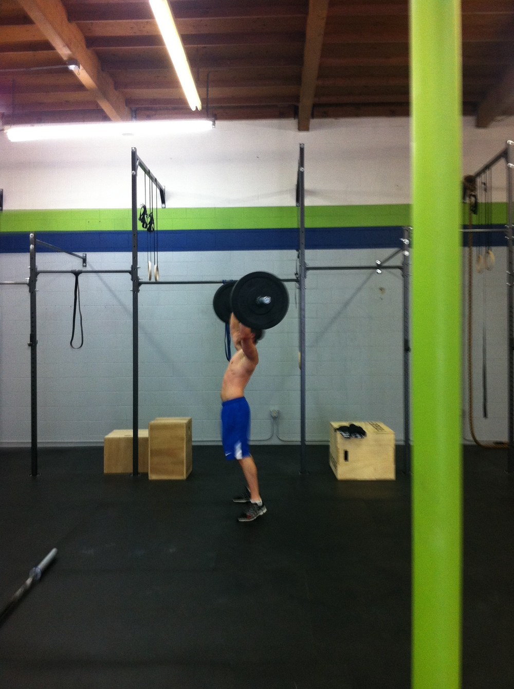 Shoutout to Mike for making it through those 135# thrusters - BEAST.