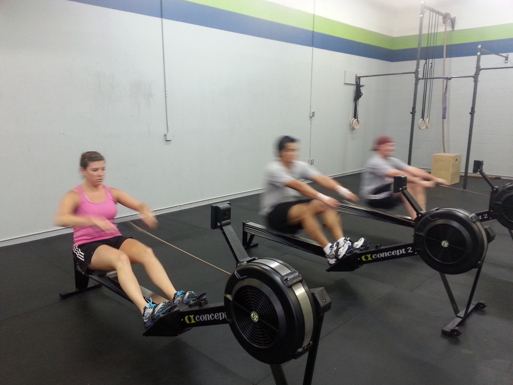 "6:30pm class Rowing their way through ""Jackie""!"