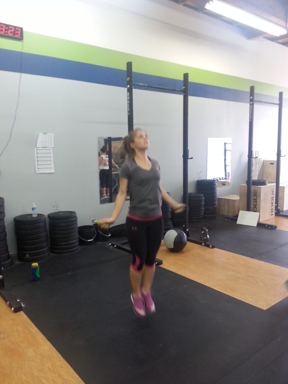 Liz Jumping strong!