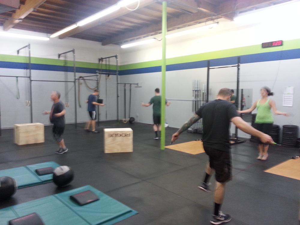 10:00am class hitting their Jump ropes!