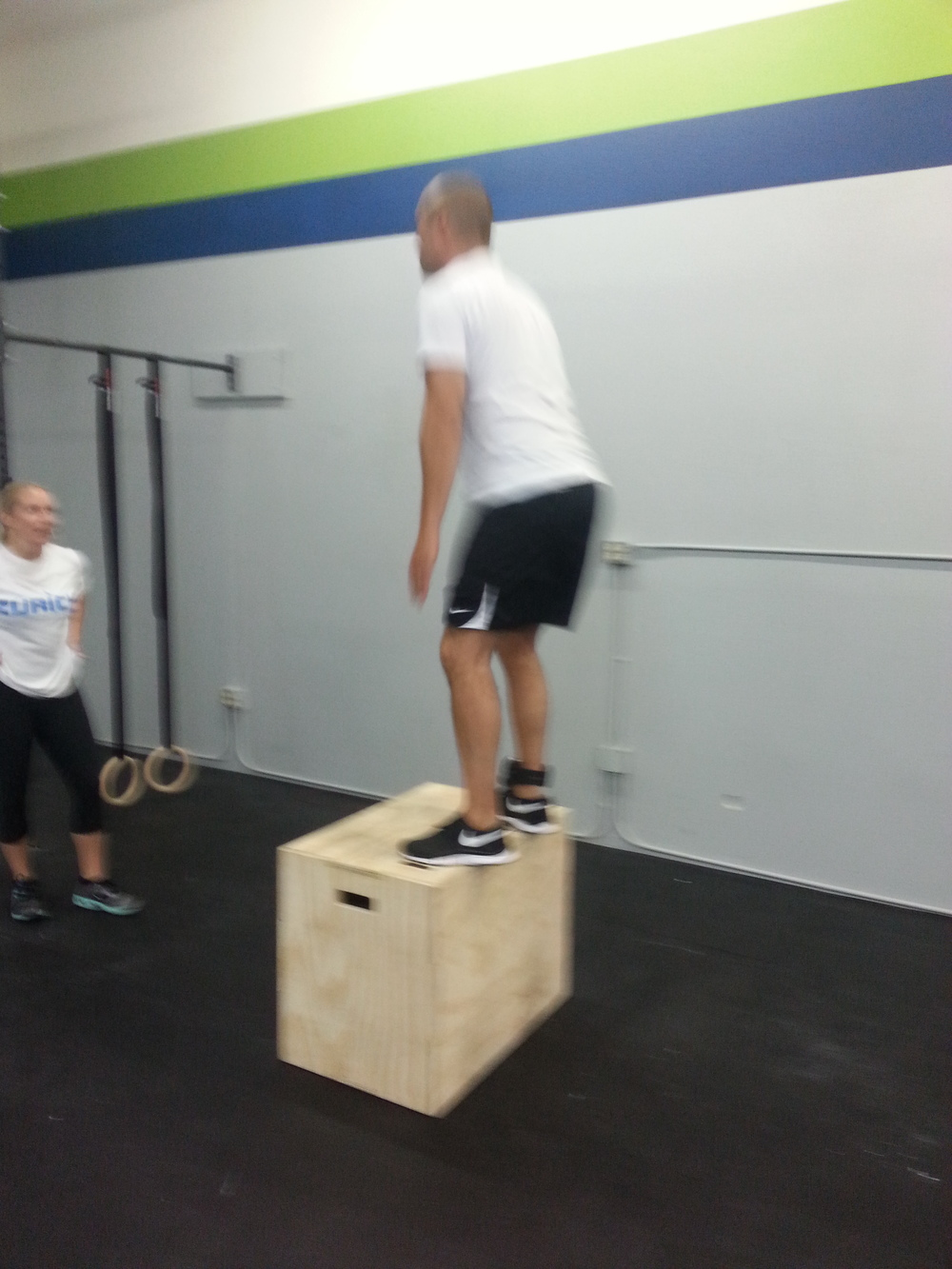 Bobby and Brandi working through those 100 box jumps!