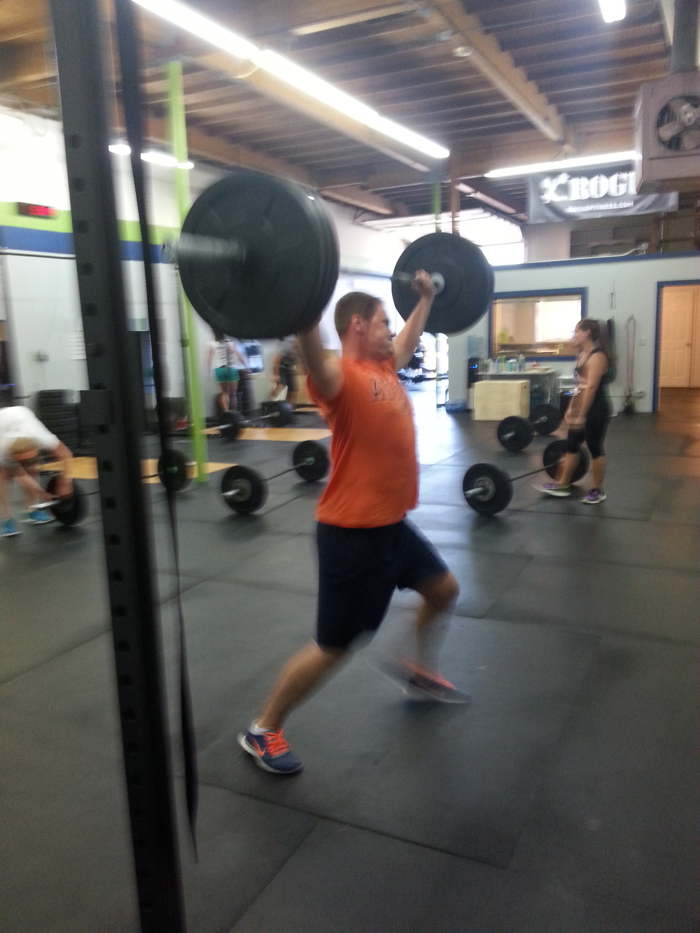 Chad finishing up that snatch!