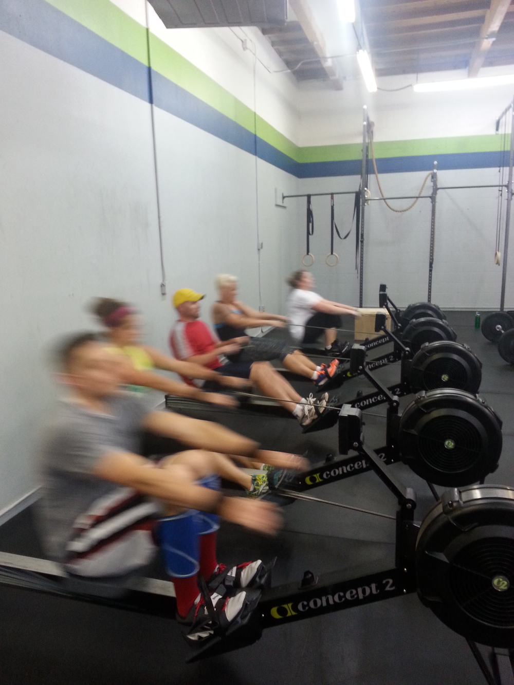 4:30pm class starting out fast on the row!