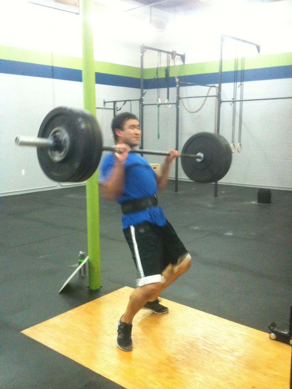 Ronny hit a PR clean and jerk today (155#)!