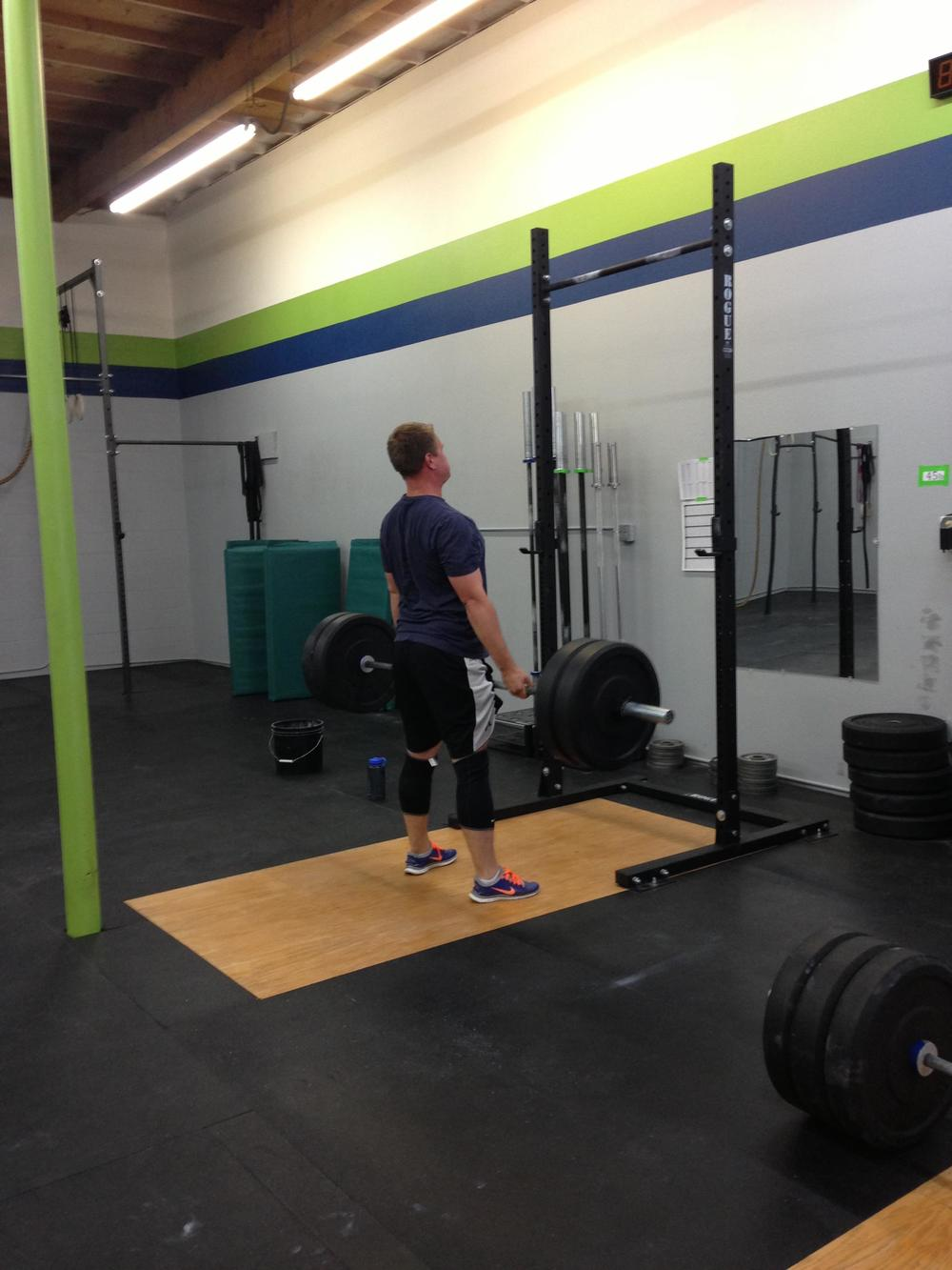 Chad looking strong on those deadlifts!