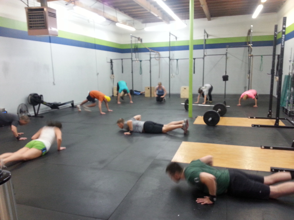 Saturday class getting after it