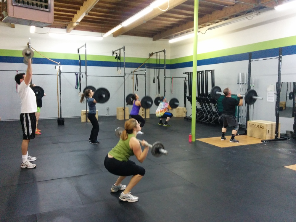 5:30pm class hitting those thrusters hard!