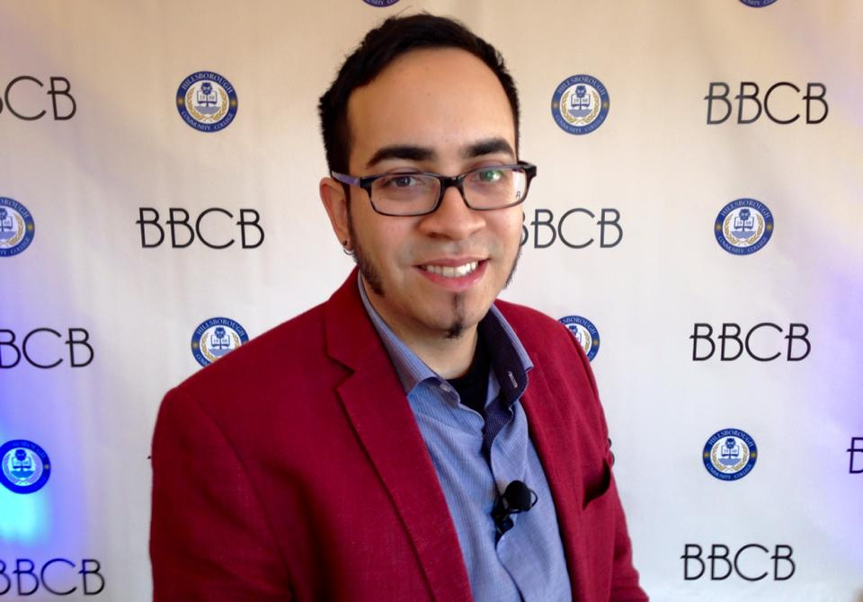 Caballero at the 2015 Black, Bound and College Bound conference, which aims to enroll and promote African/Latino American diversity in higher education.