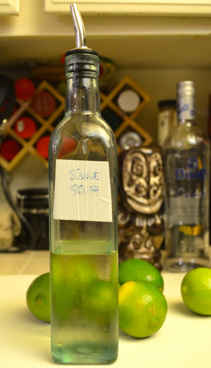 Bottled simple syrup