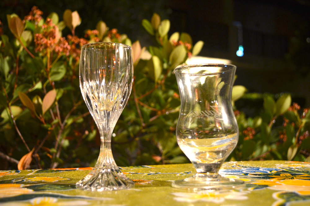 Cordial glass, small snifter.