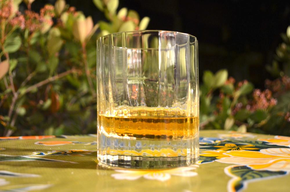 House Spirits rum, neat.