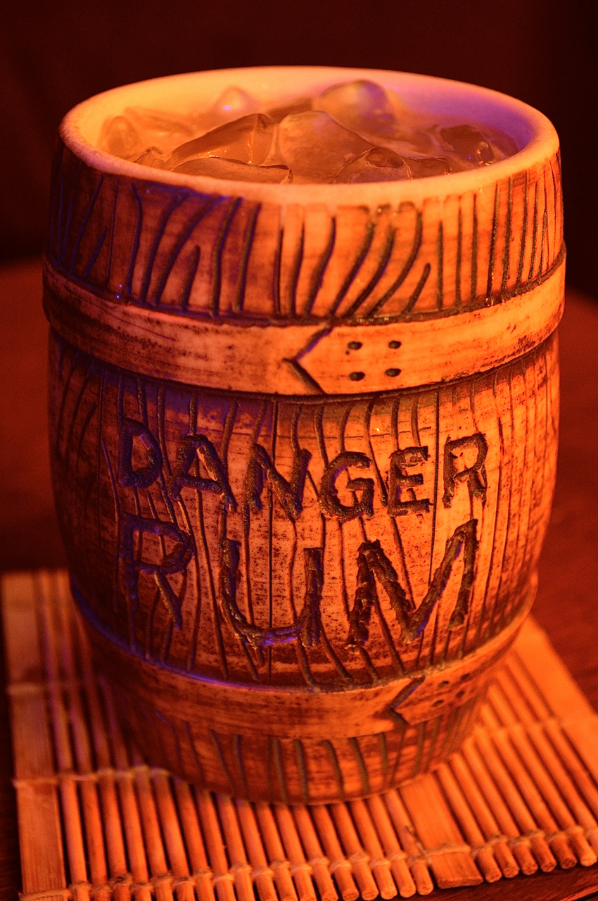 Meeting House Punch in a ceramic barrel by Johnnie Velour .