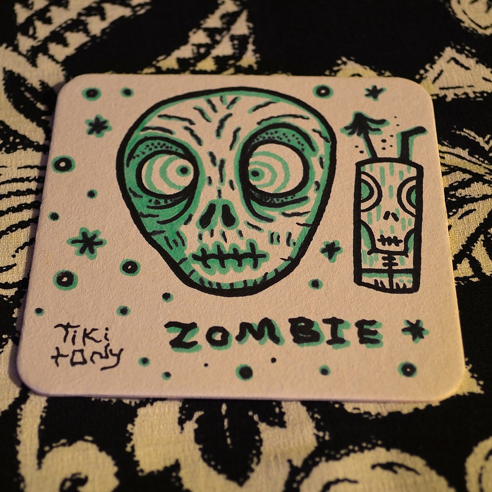 Zombie coaster by Tiki tOny