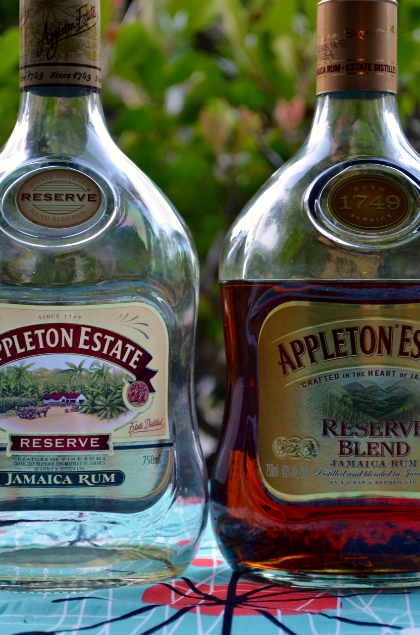 Appleton Reserve: pre-June 2015 label on left, June 2015 label on the right.