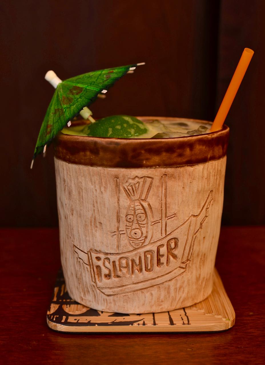 The Tropicalia, Stockton Islander mug by Eric October.