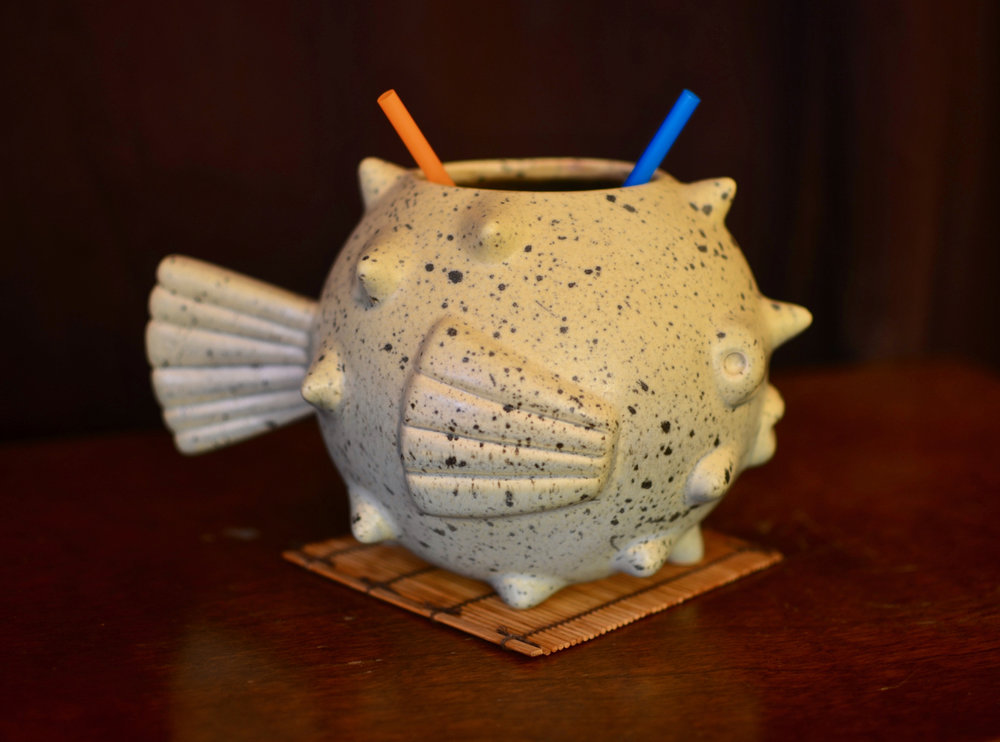 Fugu (for 2) in a Munktiki fugu mug.