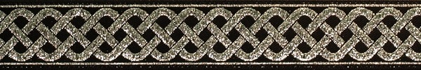 R110 3/4 Inch Silver Celtic Knot