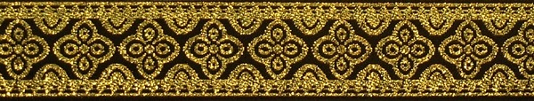 R140 7/8 Inch Gold Flowers