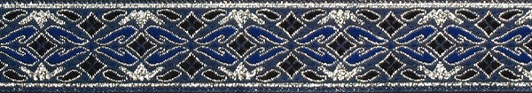 R164 7/8 Inch Silver and Blue Diamonds