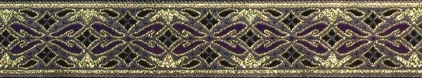 R218 7/8 Inch Gold and Purple Diamonds