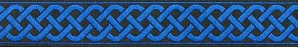 R137 3/4 Inch Royal Blue Celtic Knot