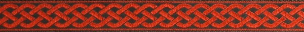 R269 1/2 Inch Red Celtic Knot