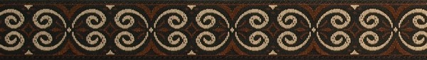 R238 5/8 Inch Brown and Tan Scroll